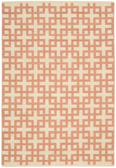 """<p>These striking flatweave rugs feature exciting colors and an interlocking geometric pattern for a look that is tantalizing, fashion-forward and trendy. Made of wool and cotton, the two-tone color palette is versatile as well as appealing and sure to be the focal point of any room. 10% Cotton 90% Wool • Hand wovenContry of Origin - India</p><p>Sizes - 5'3"""" x 7'5"""" ,7'9"""" ..."""