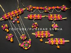 Flower Jewellery Making | Flower Jewellery for haldi | flower Jewellery making at home | Punekar Sne Flower Jewellery For Haldi, Diy Crafts For Gifts, Jewellery Making, Julia, Floral, Flowers, How To Make, Jewelry, Youtube