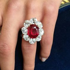 The remarkable Ratnaraj Ruby!! 10.05 carats Burma no heat, pigeons blood, by Faidee. Part of our Magnificent Jewels auction in Hong Kong on 29 November.