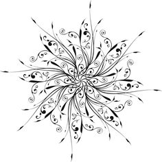 Snowflake Tattoo | Freebie circular designs 1300.1300