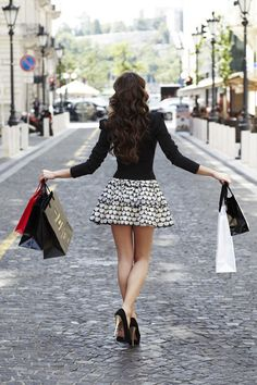Lets go shopping at all the expensive stores in new york, london, paris....... and get all the things on clearence....