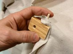 Making wooden tarp clips