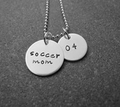 Hand Stamped Jewelry Soccer Mom Necklace by klacustomcreations, $48.90