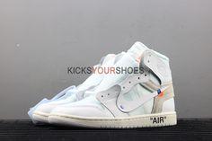 b5487837671807 OFF-WHITE x Air Jordan 1 Retro High OG BG  White  2018 AQ8296 100 - Off  White