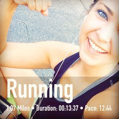 Great post-run FitSnap shot, what a great smile! FitSnap is a free iPhone app that creates inspirational pictures from your workouts. Download it today from the App Store!