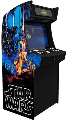 I love star wars so I would love an arcade game to play. Pi Arcade, Arcade Bartop, Arcade Room, Retro Arcade, Arcade Games, Arcade Game Machines, Arcade Machine, Man Cave Arcade, Diy Arcade Cabinet