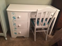 General Finishes Snow White painted desk