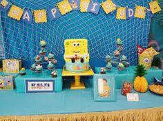 Resultado de imagem para festa de aniversario bob esponja