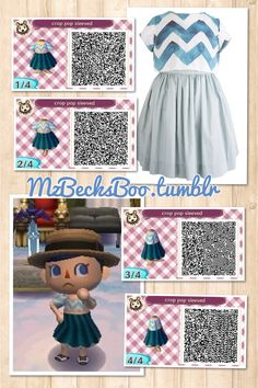 My crop pop dress was inspired by this one I found at www.barbarabeachdesigns.com I wore this all summer in my animal crossing town. I miss the summer! Enjoy the codes!