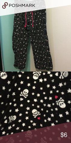 Pants Pj skull and heart pants Old Navy Intimates & Sleepwear Pajamas