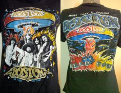 Vintage Original RARE 1970s BOSTON MORE THAN A FEELING World Tour T Shirt Tee