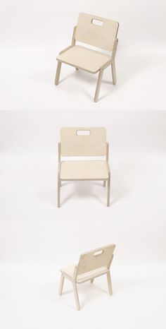 Children chair made from plywood