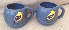 POD of Edgecomb & Boothbay Maine Pottery Mugs Backyard Birds Set Of 2 (05/13/2015)