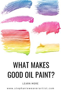 4 qualities I look for in good oil paint:  1) Consistent quality 2) Pigment lasts a very long time  Click to read more and find out what oil paint artist Stephanie Weaver loves and why.   Oil Paint | Learn to paint | How to paint | oil painting for beginners | oil painting | art classes | art instruction Oil Painting Supplies, Painting Tips, Painting Art, Painting Tutorials, Different Types Of Painting, Oil Painting For Beginners, Fun Arts And Crafts, Paint Brands, Best Oils