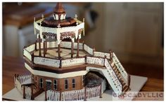 #Brighton Bandstand chocolate cake - handcrafted in chocolate, serving 50 - super