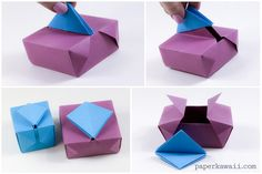 Learn how to make a cool origami gatefold box, or lock box, with these easy to follow video instructions. One sheet for box, one for stopper.