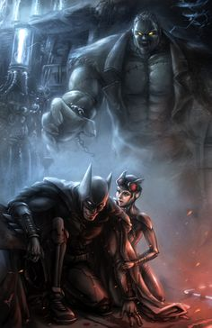 Batman and Catwoman vs. Solomon Grundy by Bruce Liu Catwoman Y Batman, Batman Arkham, Batman Vs, Riddler, Dc Comics Superheroes, Dc Comics Art, Marvel Dc Comics, Batman Artwork, Batman Wallpaper