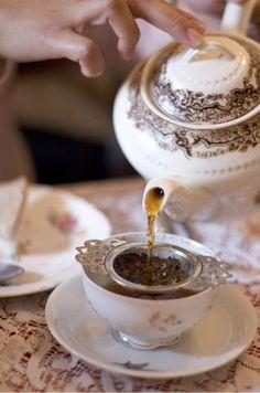 Loose Leaf Tea in Vintage Cup | via Tumblr on We Heart It http://weheartit.com/entry/57255690/via/tfaswift