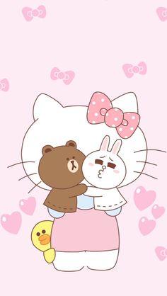 *~ Hello kitty ~* Sanrio Wallpaper, Pink Wallpaper Iphone, Hello Kitty Wallpaper, Kawaii Wallpaper, Cute Wallpaper Backgrounds, Cartoon Wallpaper, Kitty Cam, Pink Hello Kitty, Sanrio Hello Kitty