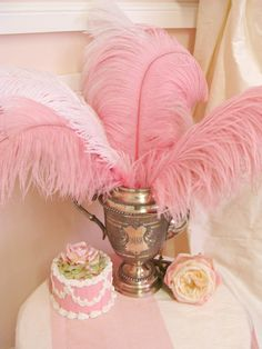Dusty Rose Single Ostrich Feather Plume - $6.85