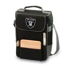 Brookstone Duet Insulated 2-Bottle Wine and Cheese Cooler/Tote Bag - NFL, Oakland Raiders