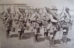 Portuguese Indigenous Troops (companhias indígenas) With NCO