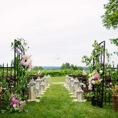 Winery Ceremony Site // Dan Stewart Photography // http://www.theknot.com/weddings/album/a-vintage-rustic-wedding-in-suttons-bay-mi-139947