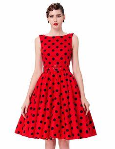 US  21.97    Belle Poque Print Vintage Sleeveless Style Dress Vestidos   belle   71707105edcf