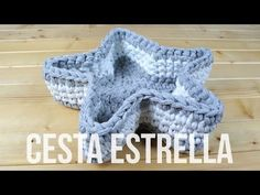 (40) Star crochet bascket - YouTube