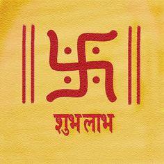 The swastika is symbolic of the Hindu god Ganesha; it is often found at the entrance of businesses. Esoteric Symbols, Sacred Symbols, Religious Symbols, Hinduism Symbols, Occult Symbols, Ancient Symbols, Indian Symbols, Indian Gods, Qi Gong
