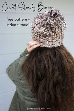 Keep your ears nice and warm with this slouchy crochet beanie! This free crochet slouchy beanie pattern is cozy, comfy, and totally beginner-friendly. #crochet #freecrochetpattern #crochetbeanie #beanie