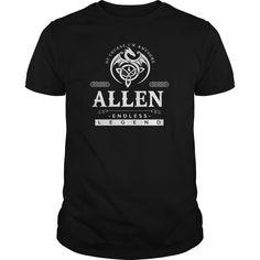 Best ALLEN - Blood Runs Through My Veins-front Tshirt
