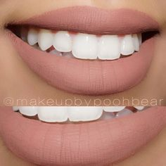 DIY your own version of this MATTE nude lipstick. Melt 1/2 tube of Chapstick, a few drops coconut oil, & CRAYONS in microwave, then pour into your Chapstick tube or in a jar! Use chunks of neutral crayons to suit your skin tone & desired color.