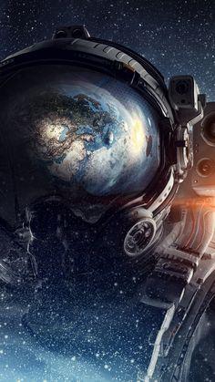 Fantasy, astronaut, space, 720x1280 wallpaper