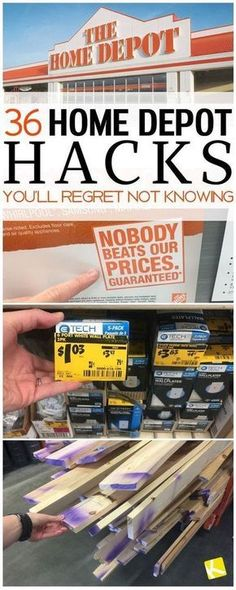 36 Home Depot Hacks You'll Regret Not Knowing - Thinking about remodeling your kitchen or home? Learn how to save on all your DIY home repair plans with these tips and tricks at Home Depot. Do It Yourself Furniture, Do It Yourself Home, Store Hacks, Shopping Hacks, Bargain Shopping, Shopping Deals, Discount Shopping, Saving Ideas, Money Saving Tips