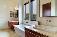 Moderne Badezimmer Ideen waschbecken unterschrank