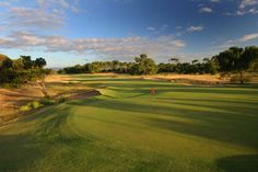 Overlooking the 9th green and fairway at Royal Adelaide Golf Club