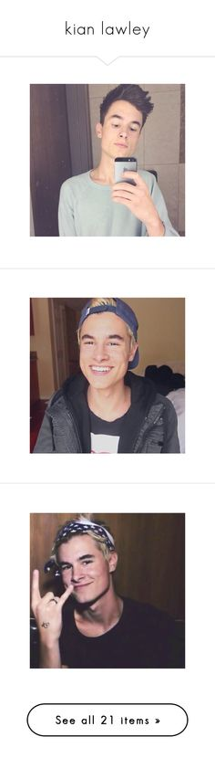 """""""kian lawley"""" by those-anon-cuties ❤ liked on Polyvore featuring kianbaby, kian, dillon, kian lawley and youtubers"""