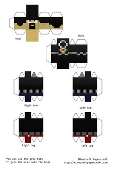 Minecraft Papercraft AntVenom