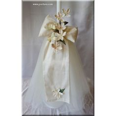 A Weddding Candle with Gorgeous Decoration ~ Lambades Baptism Candle, Small Candles, Christening, Blouse Designs, How To Make
