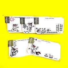 アートプリントジャパン アナと雪の女王 ラブラブオラフシリーズ ネームカード