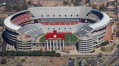 <b>University of Alabama</b><br>Home of the University of Alabama Crimson Tide football team, Bryant-Denny Stadium was named after legendary coach Paul 'Bear' Bryant and Dr. George Denny, who became the school president in 1912. Located in Tuscaloosa, this prominent football venue has a seating capacity of 101,821.