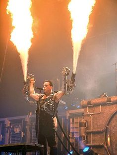 Rammstein Concert! German's are crazy! Trust me, my family and I are German and we're a bunch of nut cases haha