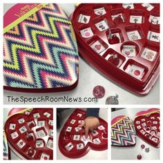 Preschool Box of Chocolates from Speech Room News. Awesome language ideas!