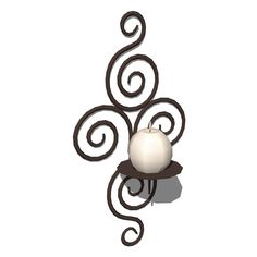 Wrought iron candleholder. For wall decoration..