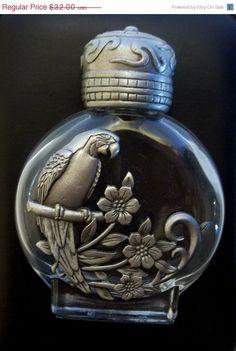 vintage Parrot Perfume Bottle JJ Jonette  pewter @dollherupshop, $24.00