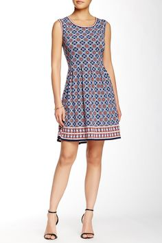 Max Studio - Print Fit & Flare Dress at Nordstrom Rack. Free Shipping on orders over $100.