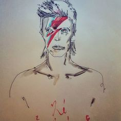 Goodbye Mr. #Bowie ...#spaceoddity #thinwhiteduke #art #doodle #sketch