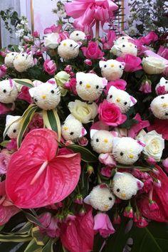 ✝☮✿★ HELLO KITTY ✝☯★☮ flowers <3