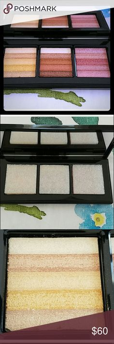 Bobbi to Go Shimmer Brick Trio Palette Bobbi Brown Authentic Limited edition & NO longer sold*. Great deal, still below retail price with shipping. New, only swatched. Trio of highlighters (can be used as blush and eyeshadow too) in gold, bronze, and wild rose. *no box but still has original protective foam covers*. Such great quality! Will ship safely. Bobbi Brown Makeup Face Powder